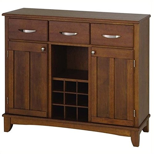 - Hawthorne Collections Wood Top Wine Rack Buffet in Cherry