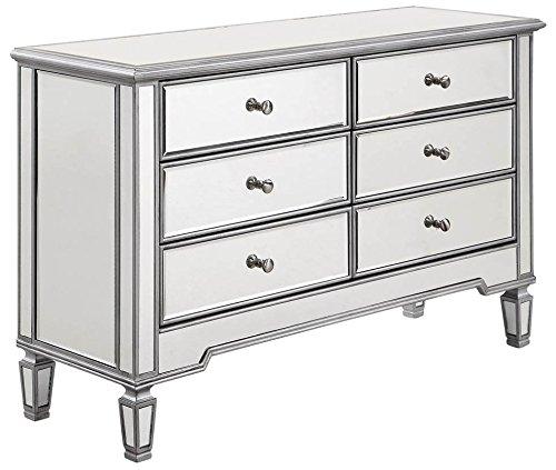 Elegant Lighting Chamberlan 6 Drawer Mirrored Dresser