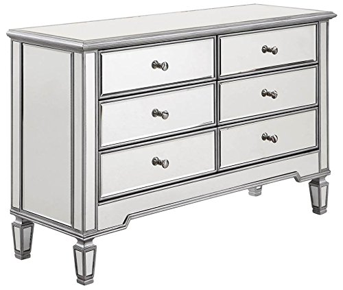 6-Drawer Storage Cabinet in Silver Finish