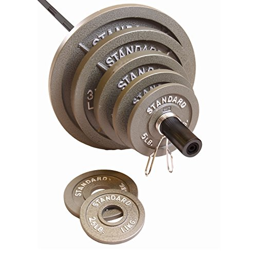 Cap Barbell 300 Pound Olympic Set, Grey