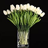 SODIAL(R) 20pcs Tulip Flower Latex Real Touch For Wedding Decor Flower Best Quality KC451