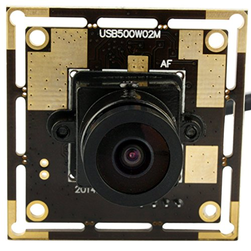 SVPRO 2.1mm Wide Angle MJPEG USB Camera Module 5MP 2592X1944 CMOS OV5640 Mini CCTV Free Driver Mac Linux Android Windows Usb Machine Vision Camera (Mjpeg Usb)