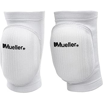 52857694cc Amazon.com : Mueller Volleyball Knee Pads, White : Industrial & Scientific