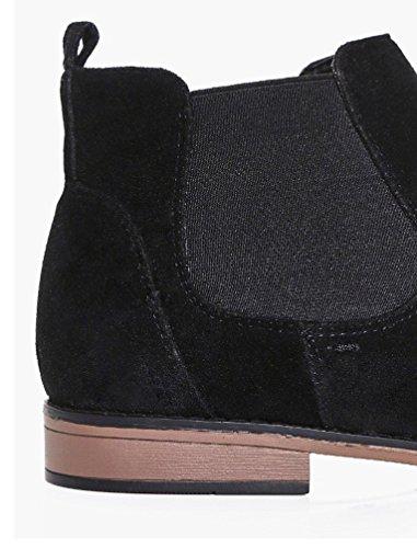 Foster Footwear ,  Jungen Unisex Erwachsene Herren Damen Chelsea Boots Schwarz