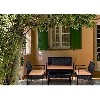 Amazoncom Patio Furniture Set Clearance Dining Set 4 Piece