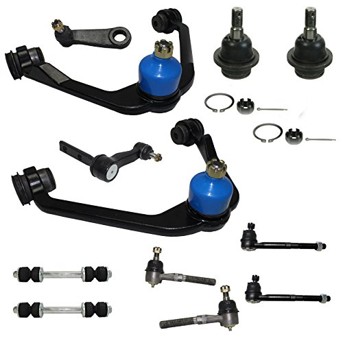 2WD Only Front Suspension Kit Includes Upper Control Arms, Lower Ball Joints, Inner and Outer Tie Rod Ends, Sway Bar End Links, Pitman and Idler Arm w/2.48