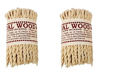 Clarity & Muse Incense Bundle Nepali Sandalwood Rope Incense - Used for religious offering, meditation, prayers, purification, relaxation - 2 (Purification Incense)