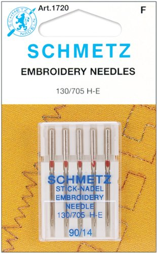 Great Notions Embroidery (Euro-Notions Embroidery Machine Needles (Size 14/90) - 5 per Package)