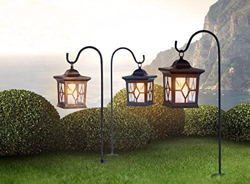Farol solar LED para exterior, lámpara de jardín (luz solar, lámpara para tumbas, estaca, farol exterior, vintage, altura 68 cm): Amazon.es: Iluminación