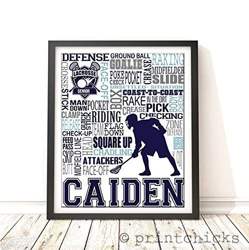 Lacrosse Typography Personalized Print - PrintChicks Boys Sp
