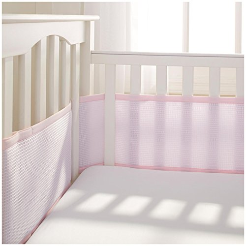 BreathableBaby Deluxe Breathable Mesh Crib Liner, Pink by BreathableBaby