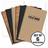 """Field Notebook - 5""""x8"""" - Combo Colors - Dot Graph Memo Book - Pack of 6"""