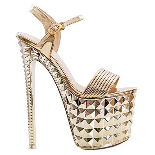 Toocool Or À Brides Chaussures Femme P8ZrPq