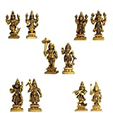 Aakrati Dashavataram -Ten Incarnations/Avatars of Lord Vishnu -Lord Vishnu All Avtar Statues is Made Brass with Details Worked by India Artisan.