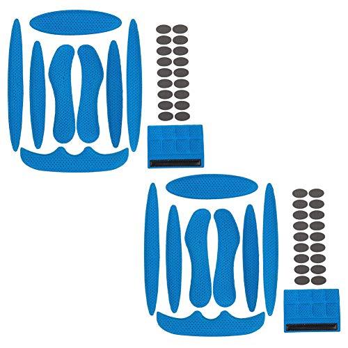 2 Sätze Helm Polster-Schaumstoff-Kit, Ersatzschaumpolster Schwamm Helmpolster für Fahrrad-Motorrad Fahrradhel