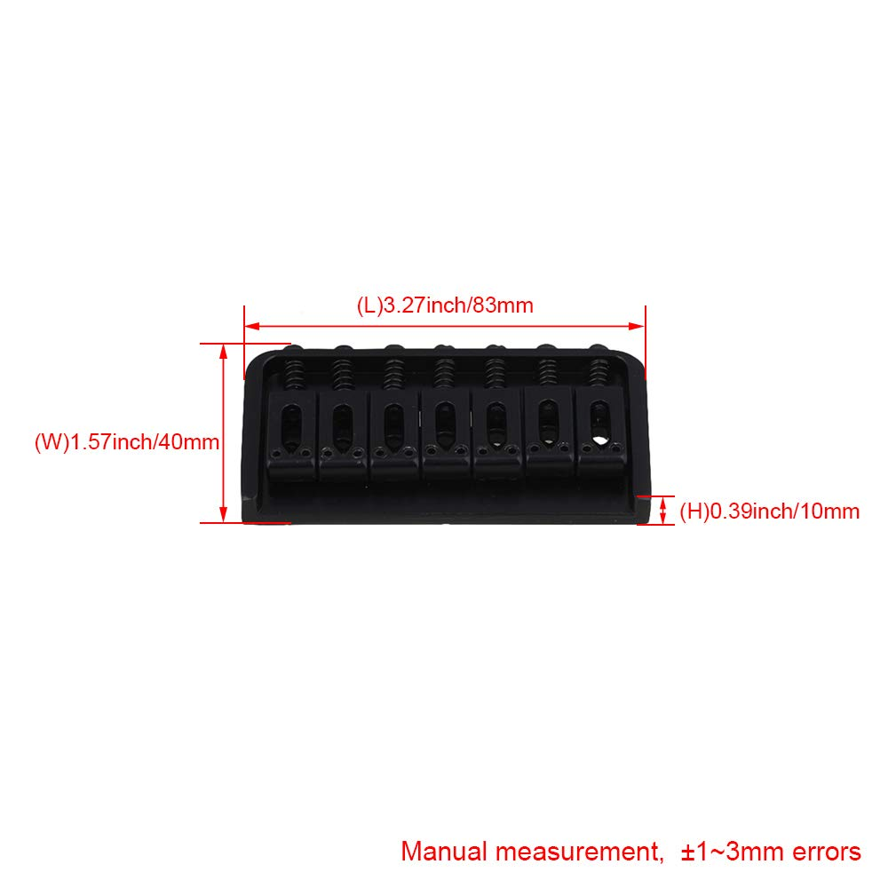 BQLZR 83mm length Black 7 String Fixed Type Bridge Replacement for ...