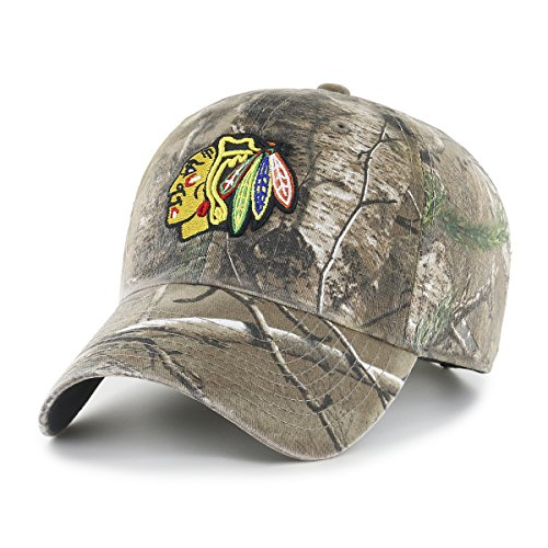 NHL Chicago Blackhawks Realtree OTS Challenger Adjustable Hat, Realtree Camo, One Size