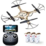 """Force1 RC Drone Kids Adults – """"X5UW"""" WiFi FPV Drone Camera Live Video – Remote Control Camera Drones Beginners, Kids Adults (Certified Refurbished)"""