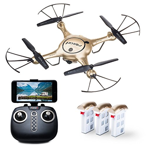 "Force1 RC Drone for Kids and Adults – ""X5UW"" WiFi FPV Drone with Camera Live Video – Remote Control Camera Drones for Beginners, Kids and Adults (Certified Refurbished)"