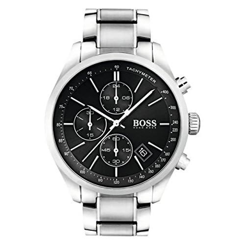 chollos oferta descuentos barato Hugo BOSS Reloj para hombre 1513477 con pulsera de metal