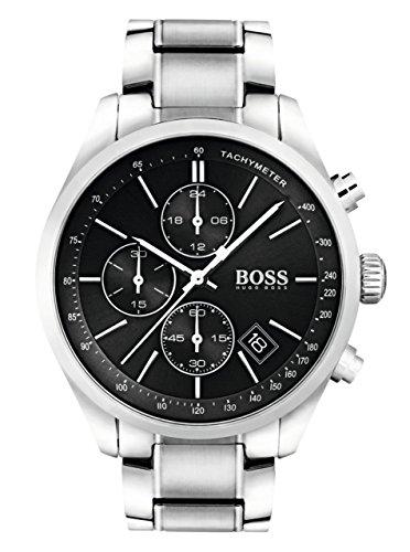 Hugo Boss Grand Prix Black Dial Stainless Steel Men's Watch -