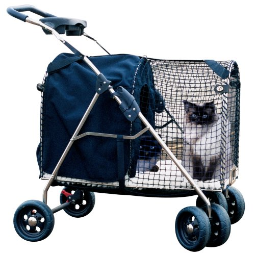 Fifth Avenue SUV Pet Stroller, Blue by Kittywalk