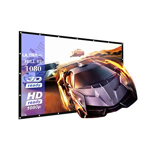 100-Inch outdoor Projector Screen PVC Fabric,16:9 Portable HD Home Theater High Brightness Projector Screen - Suitable for HDTV/Sports/Movies/Presentations (100 inch)