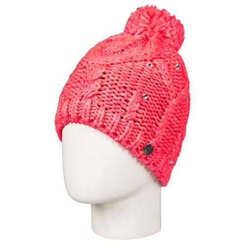 Roxy Girls Shoot Star Beanie Hat One Size Neon Grapefruit