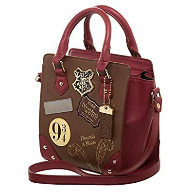 Harry Potter 9 3/4 Deluxe Mini Brief Handbag Purse Satchel (One Size, Burgundy)