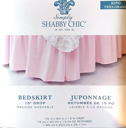 """Simply Shabby Chic Bedskirt 15"""" in Drop - King Size"""