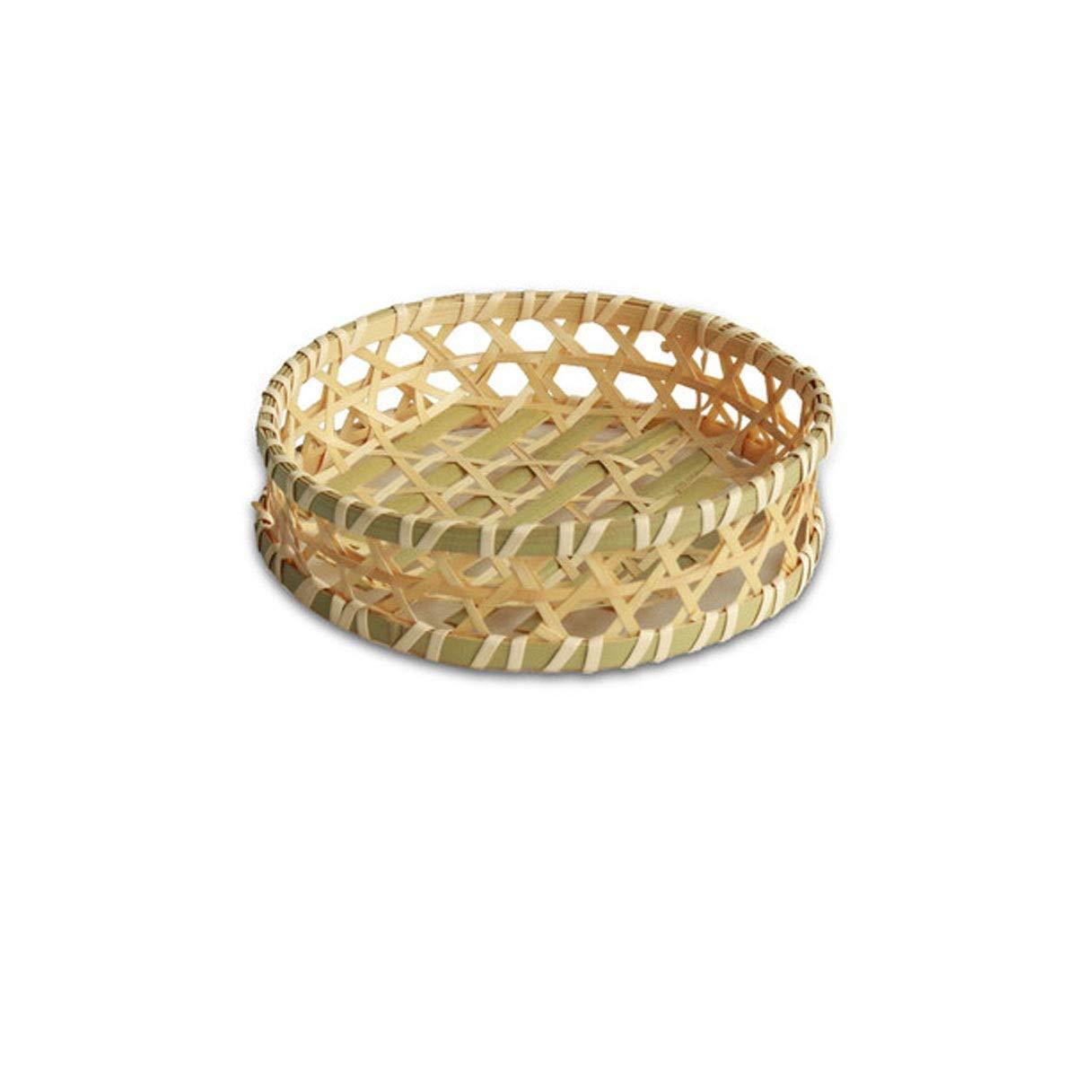 QINRUIKUANGSHAN Bamboo Baskets, Snack Baskets, Snack Baskets, Bamboo Baskets, Fruit Baskets, Hot Pot Restaurant Baskets, Taro Baskets Bread Basket, (Color : A, Size : 184.5cm) by QINRUIKUANGSHAN