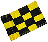 Backyard Putting Green Golf Flag - Checkered Golf Flag - Solid Red, Green, Yellow, Blue Golf Flag (Checkered - Black/Yellow)