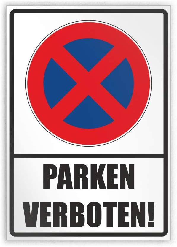 Kiwistar Parken verboten 21 x 15cm Parkplatzschild Alu Verbund kein PVC!