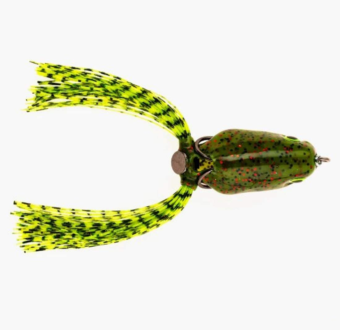 Scum Frog Pro Series Topwater Bass Fishing Hollow Body Frog Lure with Weedless Hooks