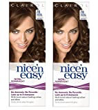Clairol Nice n' Easy Hair Color #78 Medium Golden Brown (Pack of 2) UK Loving Care + FREE Travel Toothbrush, Color May Vary