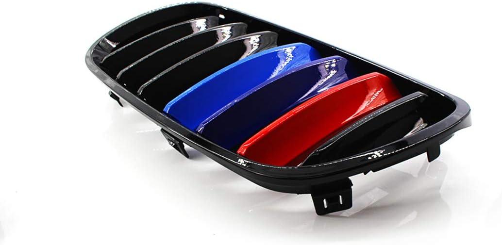 Tipo 1 Rejilla de 1 par Mate Negro Parachoques Delantero Rejillas Parrillas autom/ático para el reemplazo de Piezas de BMW para E83 X3 2007-2010