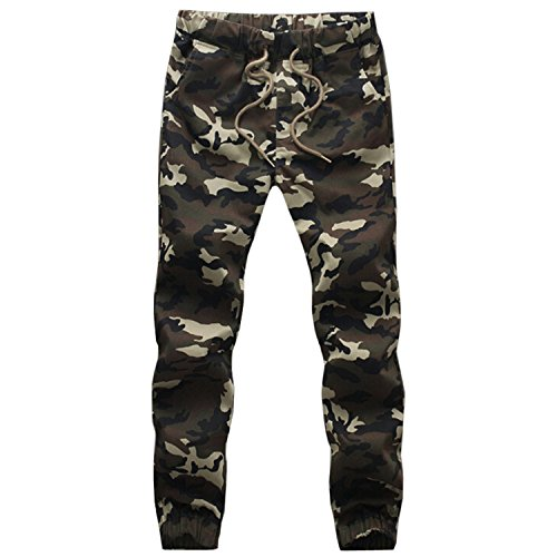Kainstinhoa 2016 Brand New Mens Joggers Trousers Men Military Casual Harem Pants Size M-4Xl Camouflage Sweat Pants Camouflage (Morph Suit Price)