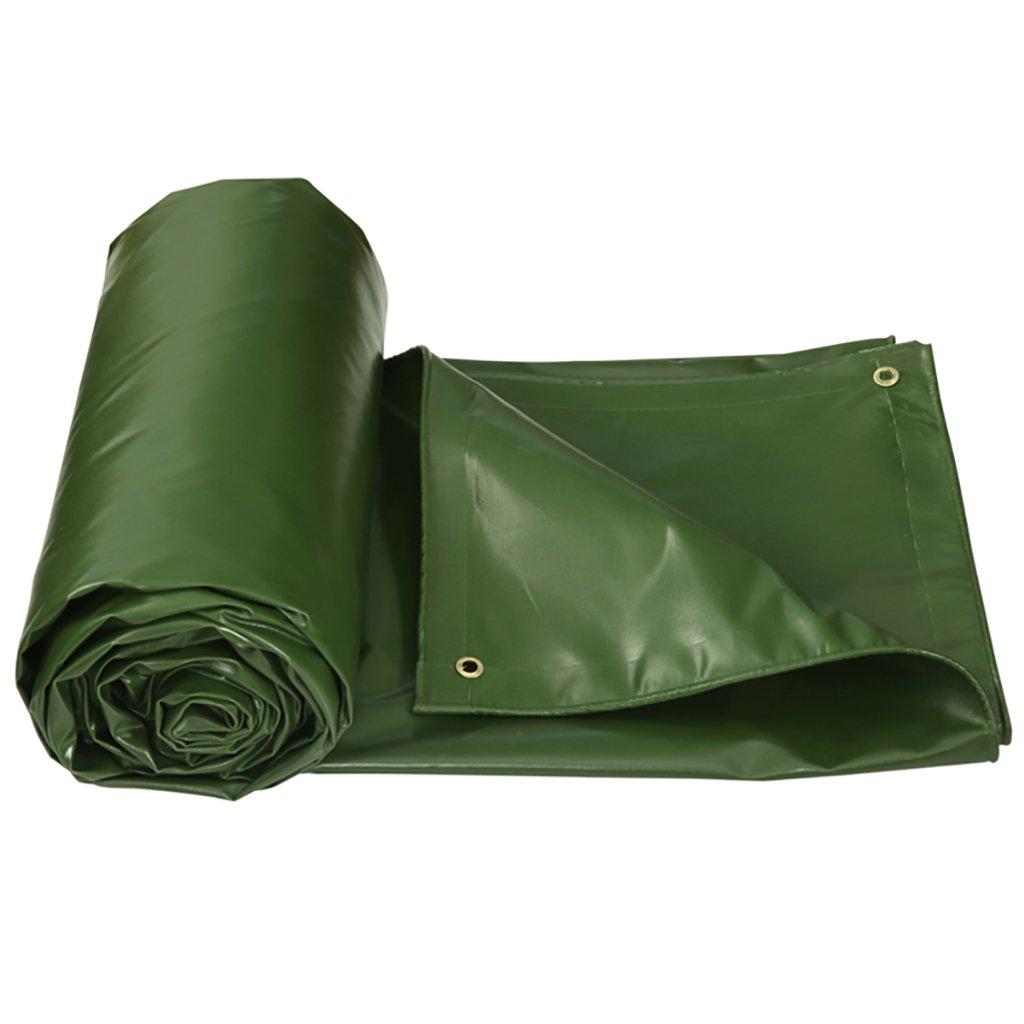 AJZGF Regenschutz Wasserdicht Plane regendichte Sonnenschutz Plane Holz Schutzhülle Stoffkrepp Isolierung Abriebfest, grün