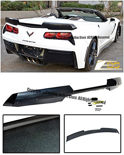 - Z06's Z07 Performance Stage 2 Style Rear Trunk Lid ABS Plastic 3Pcs Painted Carbon Flash Metallic Full Spoiler Wing Lip Upgrade For 14-Up Chevrolet Corvette C7 2014 2015 2016 2017 14 15 16 17 Z06
