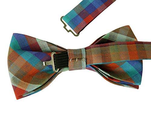 ST34 Mixed Lot 5pcs Set Cotton Plaid Tuxedo New Bow tie for BOYS-Various Colors