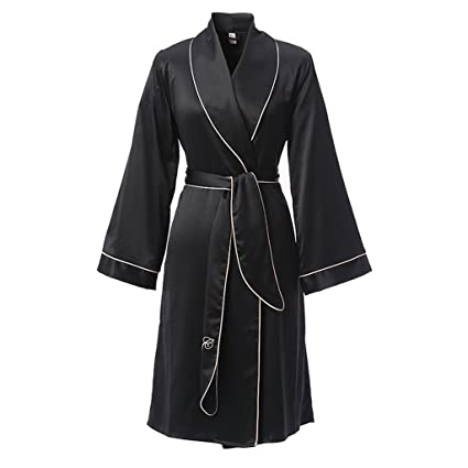 Albornoz GJM Shop algodón con Bolsillos Bata De Noche Fibra 100% Poliéster Hembra Verano Pijama