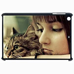 Customized Back Cover Case For iPad Air 5 Hardshell Case, Black Back Cover Design Cat Personalized Unique Case For iPad Air 5 wangjiang maoyi