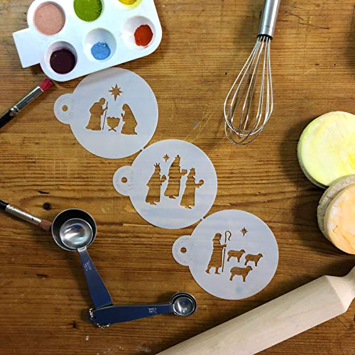 Nativity, Wisemen and Shepherd Cookie Stencil Set C1012 by Designer Stencils