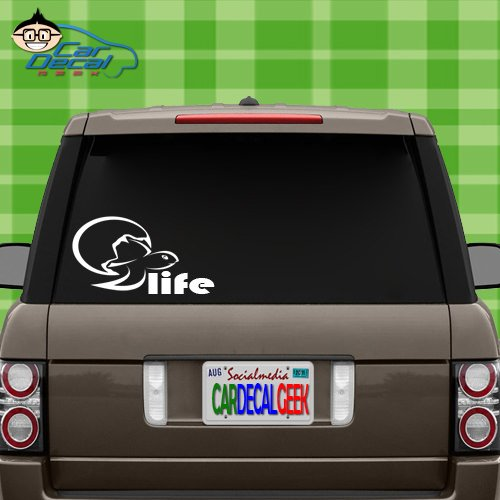 """Car Decal Geek Baby Sea Turtle Reptile Life Vinyl Decal Sticker Bumper Cling for Car Truck Window Laptop MacBook Wall Cooler Tumbler 