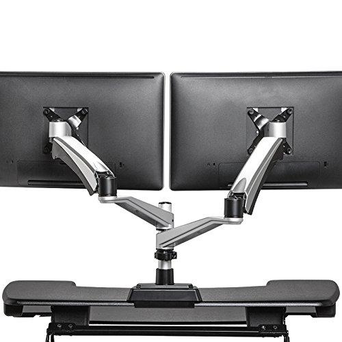 VARIDESK - Monitor Arm - Full-Motion Spring Dual - Monitor Arm by VARIDESK
