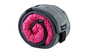 CORI Travel Pillow - World's 1st Customizable Memory Foam Travel Neck Pillow That ADAPTS to You for The Best Support, Comfort & Portability (Magenta Pink)