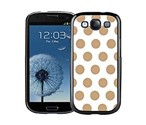 taoyix diy Element Samsung Galaxy S3 Black Case I9300 Durable Soft Silicone TPU Polka Dot Blue and White Speck Cell Phone Case Cover