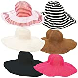 Wholesale Lot Case 12Pc Assorted Ladies Floppy Sun Hat Set Wide Brim Summer Hats