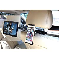 UNIVERSAL Smartphone & Tablet Pc Car Headrest Mount Holder 4 Inch Cell Phones - 14 Inch Tablet PCs