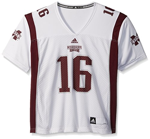 (adidas NCAA Mississippi State Bulldogs Women's Replica Football Jersey, White, Large)